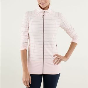Lululemon pink and gray stripe jacket